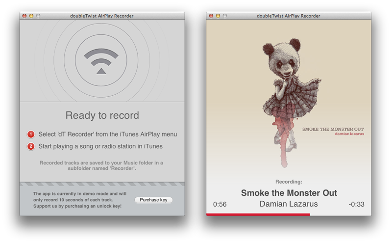 Record iTunes radio with AirPlay Recorder for Mac » doubleTwist blog