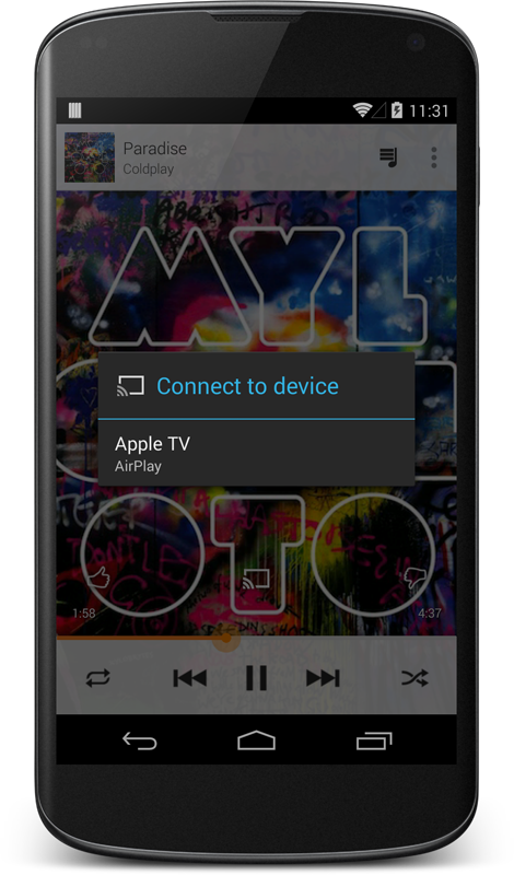 AirPlay support for Google Play Music